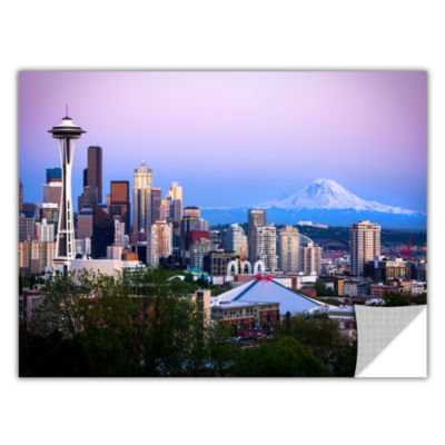 Brushstone Seattle And Mt. Rainier 2 Removable Wall Decal