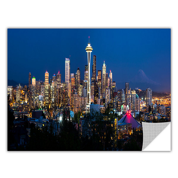 Brushstone Seattle Night Removable Wall Decal