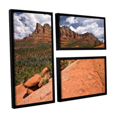 Brushstone Sedona 3-pc. Flag Floater Framed CanvasWall Art