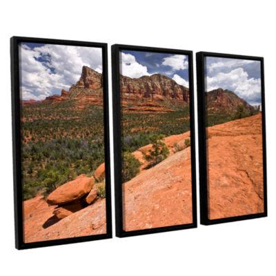 Brushstone Sedona 3-pc. Floater Framed Canvas WallArt