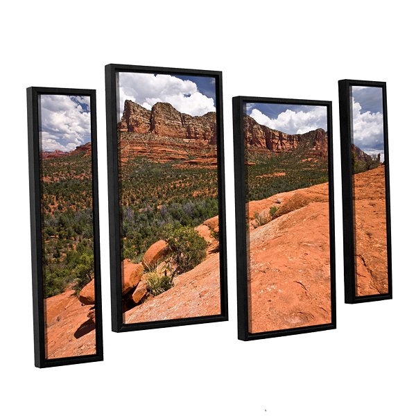 Brushstone Sedona 4-pc. Floater Framed Staggered Canvas Wall Art