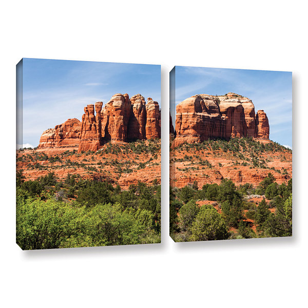 Brushstone Sedona 2 2-pc. Gallery Wrapped Canvas Wall Art