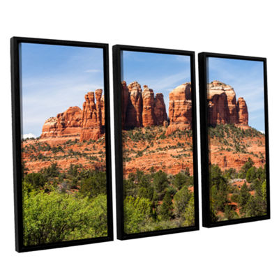 Brushstone Sedona 2 3-pc. Floater Framed Canvas Wall Art