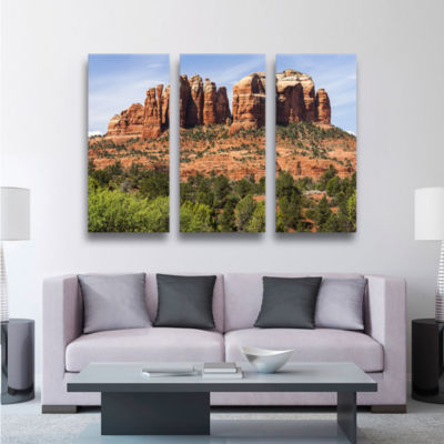 Brushstone Sedona 2 3-pc. Gallery Wrapped Canvas Wall Art