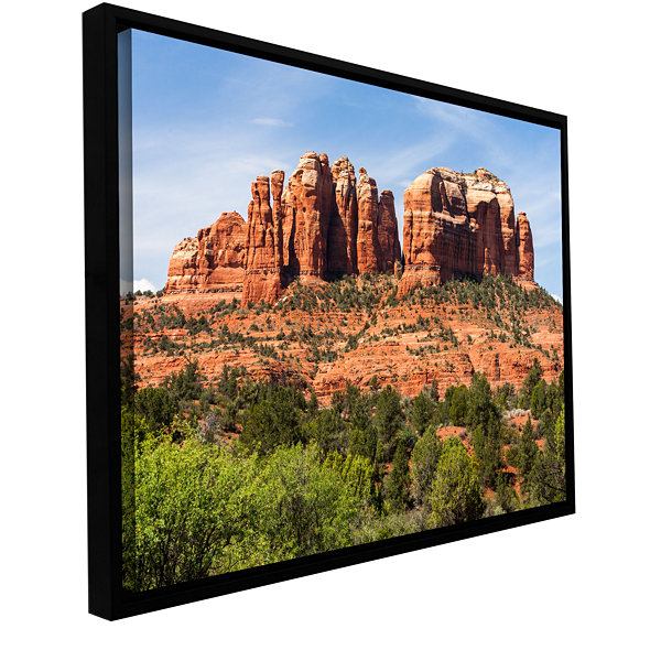 Brushstone Sedona 2 Gallery Wrapped Floater-FramedCanvas Wall Art
