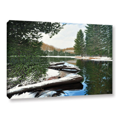 Brushstone Spring Breakup Gallery Wrapped Canvas Wall Art