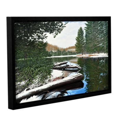 Brushstone Spring Breakup Gallery Wrapped Floater-Framed Canvas Wall Art