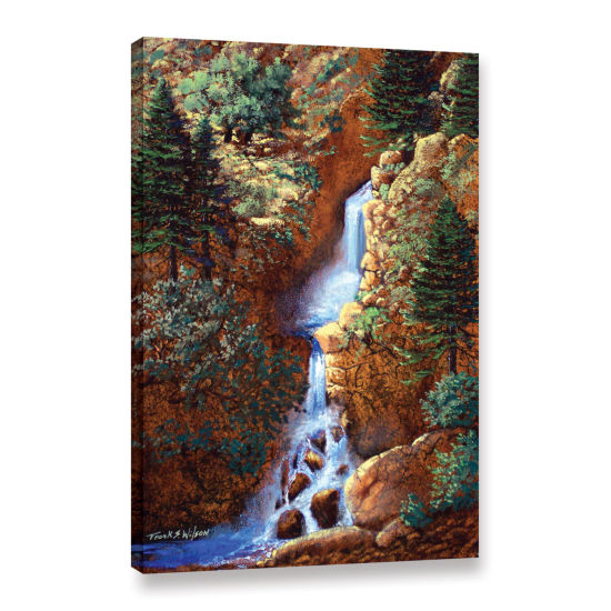 Brushstone Spring Cascade Gallery Wrapped Canvas Wall Art