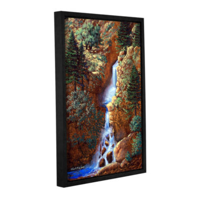 Brushstone Spring Cascade Gallery Wrapped Floater-Framed Canvas Wall Art