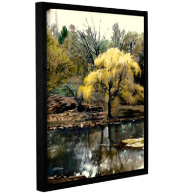 Brushstone Spring Central Park Gallery Wrapped Floater-Framed Canvas Wall Art