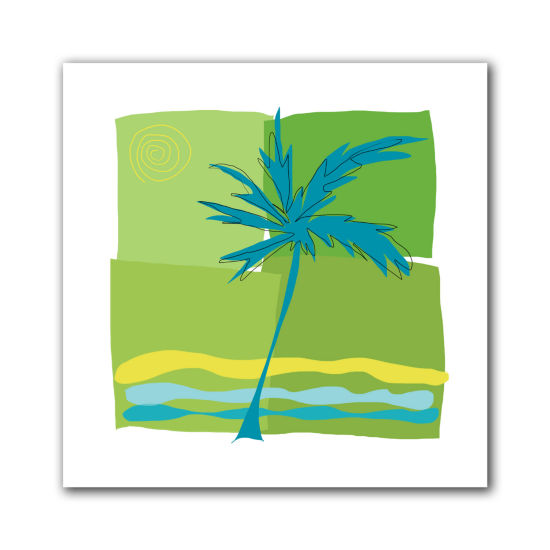 Brushstone Single Palm Canvas Wall Art