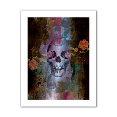 Brushstone Skull Canvas Wall Art