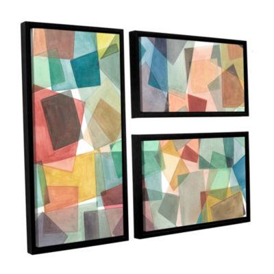Brushstone Slideshow 3-pc. Flag Floater Framed Canvas Wall Art