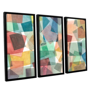 Brushstone Slideshow 3-pc. Floater Framed Canvas Wall Art