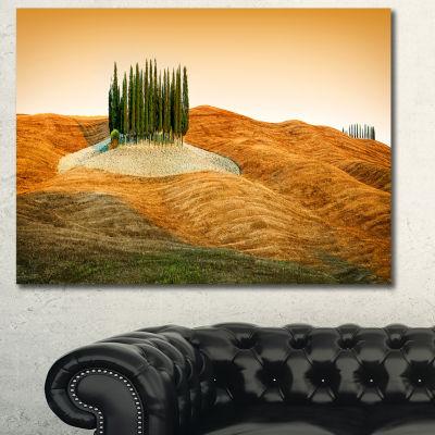 Design Art Cypress Grove Panorama Landscape CanvasArt Print