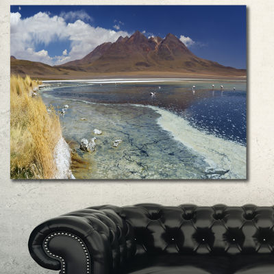 Designart Desert Lake Laguna Canapa On Sunny DayModern Seashore Canvas Wall Art