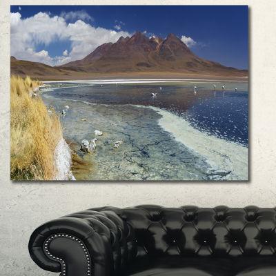 Designart Desert Lake Laguna Canapa On Sunny DayModern Seashore Canvas Wall Art - 3 Panels