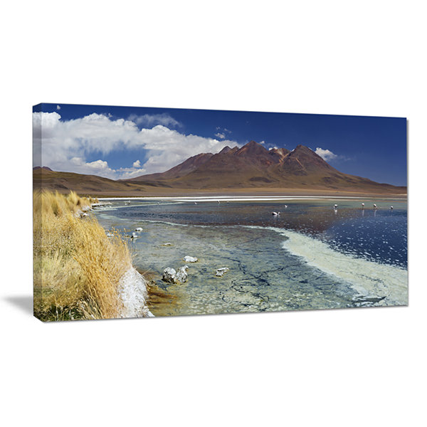 Designart Desert Lake Laguna Canapa On Sunny DayModern Seashore Canvas Wall Art