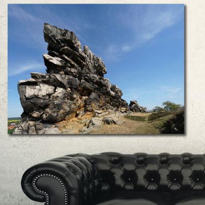 Designart Devil S Wall At Weddersleben LandscapeCanvas Art Print