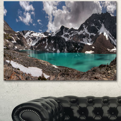 Design Art Distant Mountains And Mountain Lake Landscape Canvas Art Print