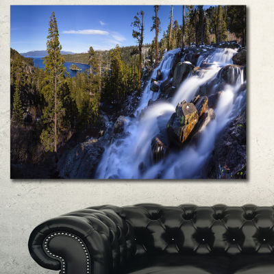 Designart Eagle Falls Emerald Bay Lake Tahoe Landscape Canvas Art Print - 3 Panels