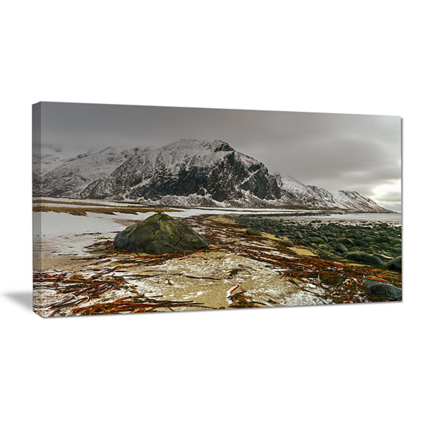Design Art Eggum Lofoten Islands Norway LandscapeCanvas Art Print