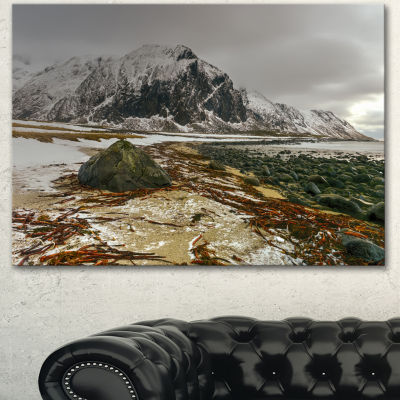 Designart Eggum Lofoten Islands Norway LandscapeCanvas Art Print