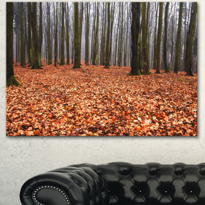 Design Art Enchanted And Magical Fall Forest Modern Forest Canvas Art
