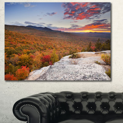 Designart Endless Forests In Fall Foliage Landscape Canvas Art Print - 3 Panels
