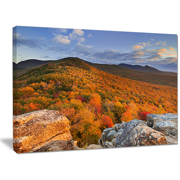 Designart Endless Forests In The Fall Foliage Landscape Canvas Art Print