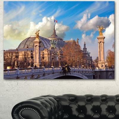 Designart Famous Great Palace In Paris Modern Cityscape Canvas Art Print