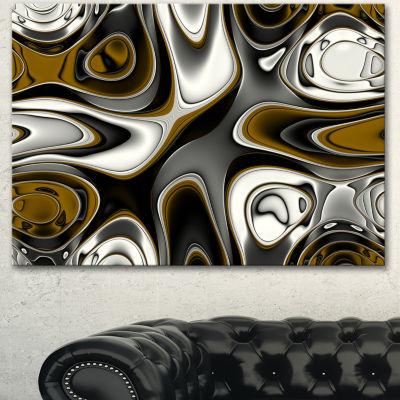Designart Fantastic Fractal Abstract Pattern LargeAbstract Canvas Artwork