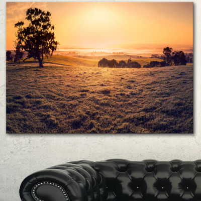 Designart Field Of Dreams Panorama Landscape Canvas Art Print
