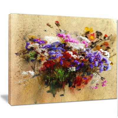 Designart Floral Still With Bunch Of Flowers Floral Art Canvas Print
