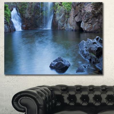 Designart Florence Falls In Litchfield LandscapeCanvas Art Print - 3 Panels