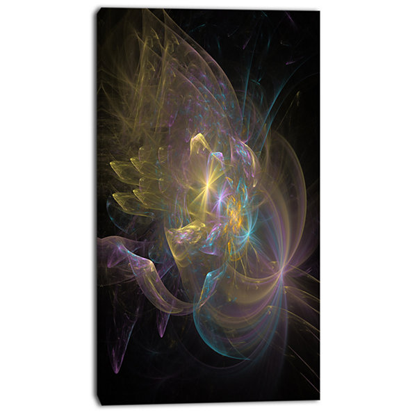 Designart Fractal Background Bright Glare Large Abstract Canvas Wall Art