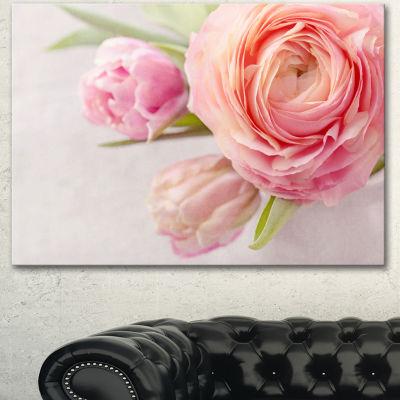 Designart Full Bloom And Blooming Flowers FloralCanvas Art Print