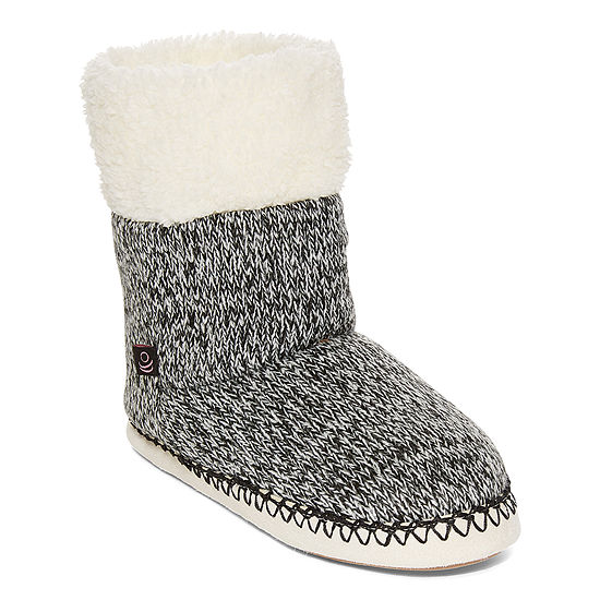 Cuddl Duds Womens Bootie Slippers