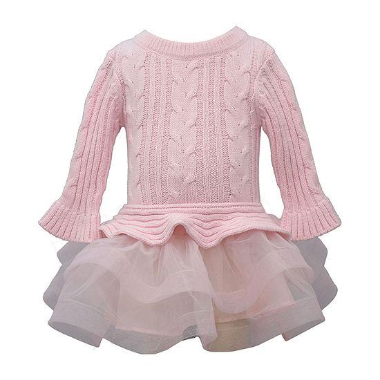 Bonnie Jean Baby Girls Long Sleeve Drop Waist Dress