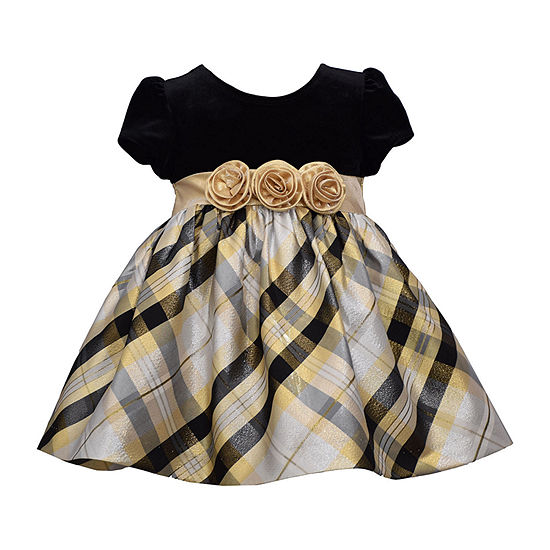 Bonnie Jean Baby Girls Short Sleeve Empire Waist Dress
