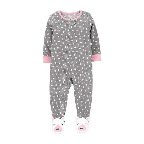 Carter's Baby Girls Microfleece Long Sleeve One Piece Pajama