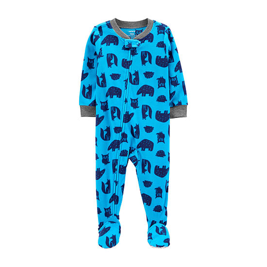 Carter's Toddler Boys Microfleece Long Sleeve One Piece Pajama