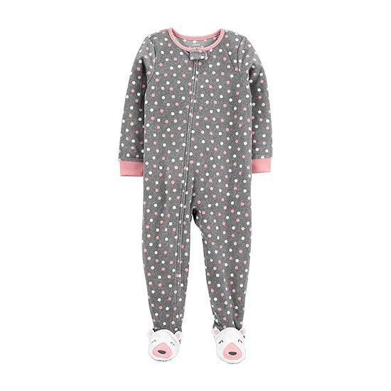 Carter's Toddler Girls Microfleece Long Sleeve One Piece Pajama