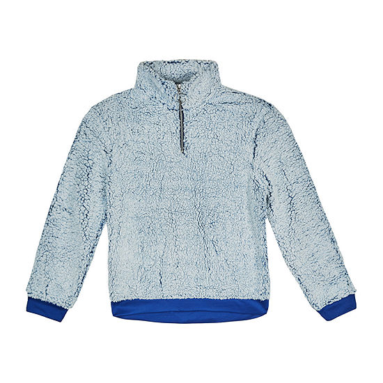 by&by girl Big Girls Long Sleeve Quarter-Zip Pullover