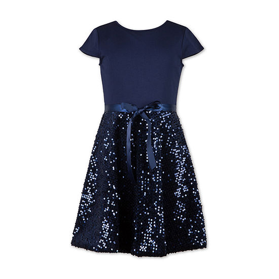 Speechless Big Girls Short Cap Sleeve Party Dress