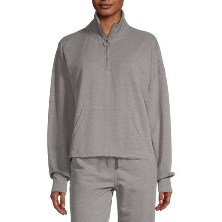 Flirtitude Juniors Womens Long Sleeve Sweatshirt, X-large , Gray
