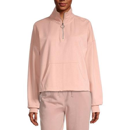 Flirtitude Juniors Womens Long Sleeve Sweatshirt, X-small , Pink