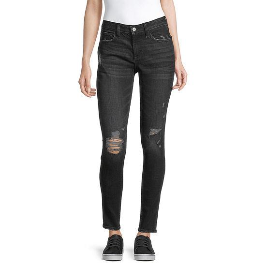 Arizona - Juniors Womens Mid Rise Skinny Fit Jean