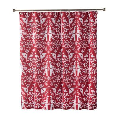 Saturday Knight Vern Yip Christmas Carol Shower Curtain
