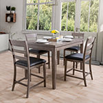 Corliving New York Dining Collection 5-pc. Counter Height Rectangular Dining Set